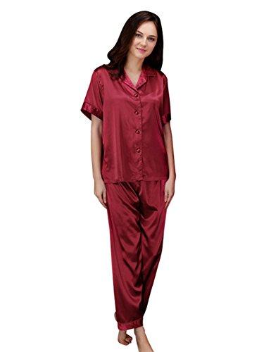 Menschwear Damen Ruhige Träume Pyjama Komfort Fit Top und Hose Violett