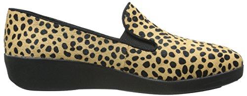 FitFlop Womens F-Pop Skate Schuhe Leopard Leopard