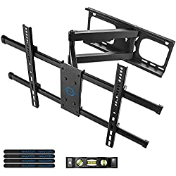 "deleyCON Universel TV Support Mural - 37"" - 70"" Pouces (94-178cm) - Basculable Orientable Jusqu'à 60Kg & VESA 600x400mm - Mur Distance Variable TV LCD LED OLED"