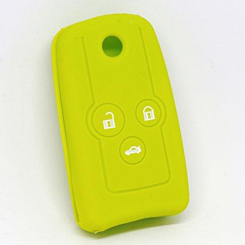Soft Case Schutz Hülle Auto Schlüssel für Honda Accord Jazz Civic CR-V Klappschlüssel Remote/Farbe: Apfelgrün (Honda Für Accord Remote-key)