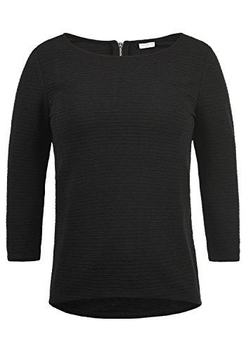 JACQUELINE de YONG by ONLY Gretel Damen Sweatshirt Pullover Sweater mit Rundhals-Ausschnitt aus hochwertiger Materialqualität, Größe:M, Farbe:Black