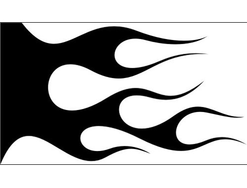 Airbrush Schablone Flammen C117