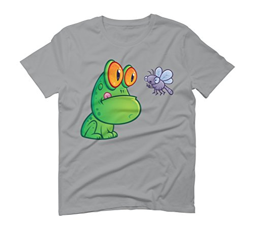 Frog and Dragonfly Men's Graphic T-Shirt - Design By Humans Opal