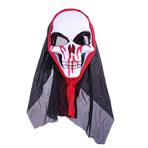TYUBN Scary Ghost Maske Halloween Custome Cosplay Requisiten Maske Party Supplies Maskerade Spukhaus Bar Garten Dekoration
