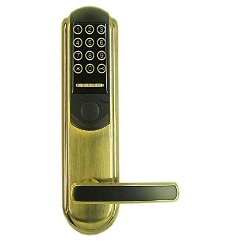Sharplace IR Karte Schlüssel Passwort Tastatur Türschloss,silber/gold - Gold