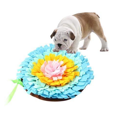 Yslin Decke Haustier Spielzeug Hund Runde Haustier Sniffing Pad Waschbare Training Decke Fütterung Matte Piecing Mehrfarbige Hundespielzeug rutschfest -