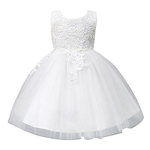 ESHOO Little Girls Princess Embroidery Dress Flower Girls Wedding Party Costume