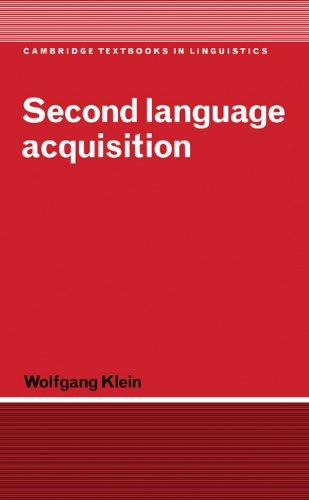 Second Language Acquisition (Cambridge Textbooks in Linguistics)