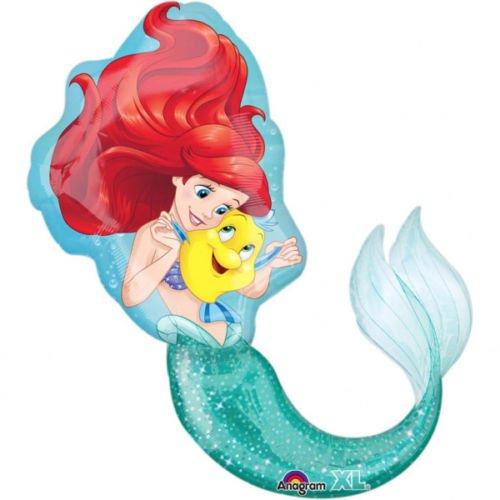 Ballonim Ariel die Meerjungfrau Div. Auswahl ca. 80cm Luftballons Folienballon Party DekorationGeburtstag (Ariel die Merrjungfrau)