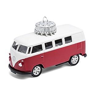 corpus delicti :: Christbaumschmuck aus Metall - die rollende Alternative zur Weihnachtskugel - VW Bus T1 Bulli (rot)
