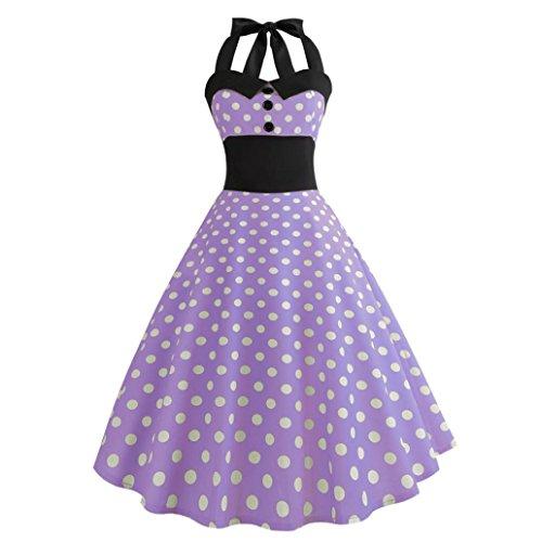 Vintage Kleid,Yesmile 50er Swing Sexy Punkt Drunck Rockabilly Kleid Frauen 2018 Trägerlos Kleider...