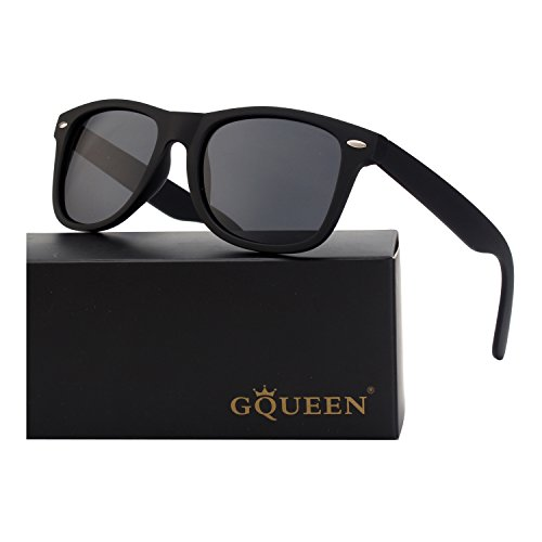 GQUEEN Wayfarer Style Polarized Sunglasses Category 3 UV400 Protection Lenses for mens womens,GQF0