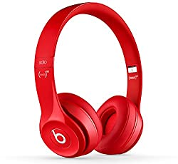 Beats Solo2 On-Ear Headphones (Red)