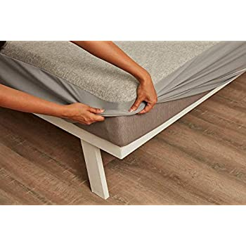 """Wakefit Water Proof Terry Cotton Mattress Protector - 72"""" x 48""""/1.83 m x 1.22 m, Single Size, Grey"""