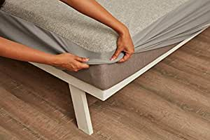 """Wakefit Water Proof Terry Cotton Mattress Protector - 72"""" x 72""""/1.83 m x 1.83 m, King Size, Grey"""