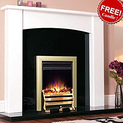 "New Designer Celsi Fire - Electriflame XD Hearth Mounted Electric Fire 16"" Daisy Brass"