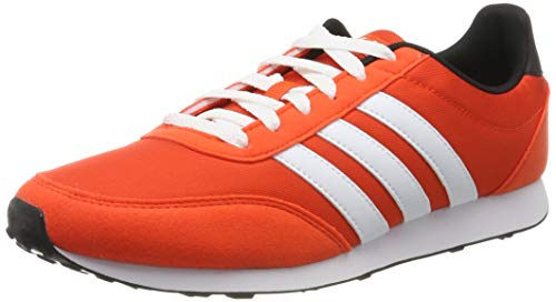 adidas Herren V Racer 2.0 Laufschuhe, Active Orange/FTWR White/Core Black, 44 EU