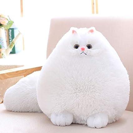 Winsterch Gatto di Peluche Giocattoli Per Bambini Regalo Di Compleanno La Bambola,Bianco Gatto (Bianco, 50 cm)