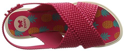 Zaxy Damen Kids Weave Sandal Offene Keilabsatz Pink (Bright Pink)