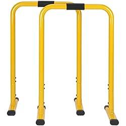 hj Barres de Musculation Traction Hauteur Réglable 76-90cm Gym Crossfit Parallettes Dip Equalisateur Fitness
