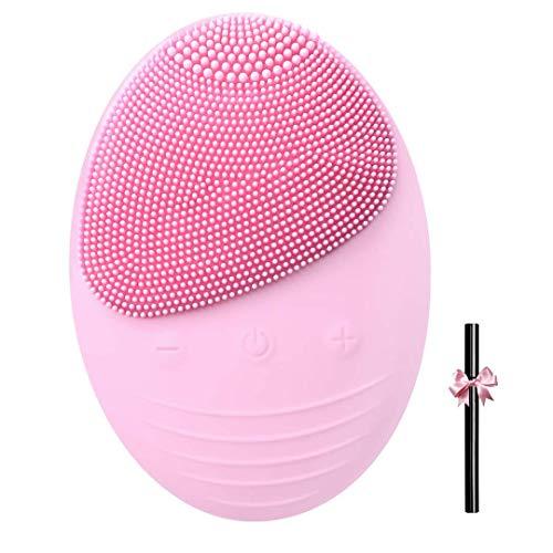 Limpiador Facial y Masajeador, SNAHIKE Brocha de Limpieza Facial de Silicona Masajeador de cara Eléctrico con Blanqueador Anti-envejecimiento Impermeable Recargable para Todo Tipo de piel