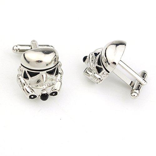 Men's Star Wars Storm Trooper Clone Trooper Silver & Black Cuff links