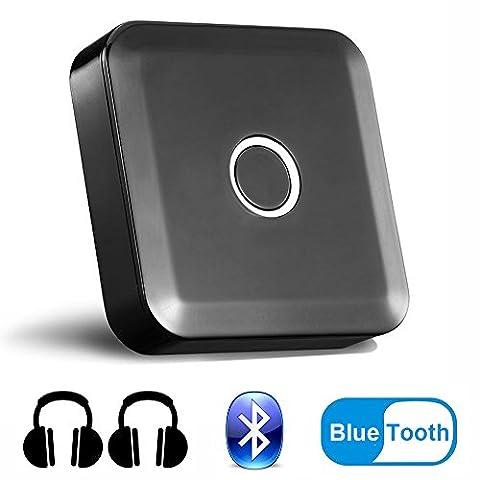Adaptateur Bluetooth 2-en-1 avec Fonctionnalité Transmetteur / Récepteur Sans Fil Bluetooth 4.0, aptX Faible Latence, Coupler 2 en même Temps Sortie Stéréo 3.5mm Pour Écouteur, Casque, PC, Laptop,Hi-Fi Stéréo, TV MSVII® YP80001