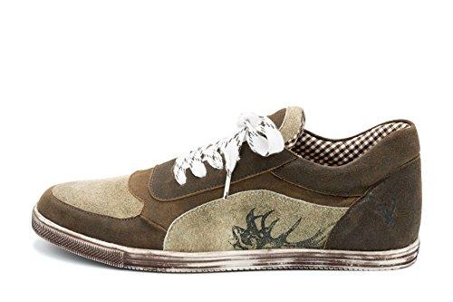 Spieth & Wensky Herren Sneaker Imanuel Nappa Chrash Braun Russ Gr.42