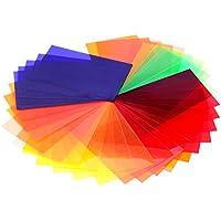 NEEWER flash universal Speedlite 4,7 cm x 7,7 cm Foto / 47 x 77 mm 35 piezas Asscherschliff Equilibrio Gel Color Filter Set con mágico de la correa para Canon Nikon Sony Pentax Olympus Metz NEEWER yongnuo y otros dispositivos flash 35 piezas (35 colores)