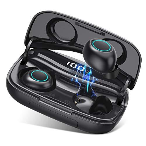 ?2020 Più recente?VOOE Cuffie Bluetooth 5.0 Auricolari Bluetooth Senza Fili Auricolari Wireless Stereo Sportivi in Ear con Custodia da Ricarica 3500mAh Microfono Leggeri Hi-Fi per iPhone Android etc.