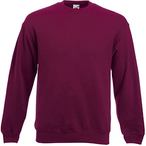 Fruit of the Loom - Set-In Sweatshirt - burgund - Größe: L