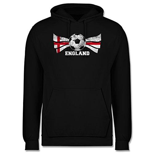 EM 2016 - Frankreich - England Fußball Vintage - Männer Premium Kapuzenpullover / Hoodie Schwarz