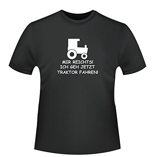 Mir reichts! ich geh jetzt traktor fahren!, Herren T-Shirt - Fairtrade - ID103843 Schwarz