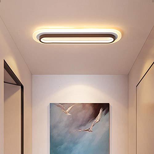 Moderner geführter Leuchter für Schlafzimmerflur glänzende geführte Bürobeleuchtung @ white and brown_L60xW18CM_Cool White No Remote