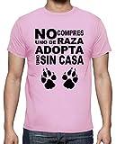 latostadora - Camiseta No Compres Uno de Raza para Hombre Rosa XL