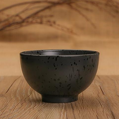 Ceramica Yifom una piccola ciotola di nero spesso idee vaso