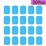 DLM Pastillas de Repuesto EMS Abs, Accesorios 20pcs Hojas de Gel para Almohadilla de Gel (2 Piezas/Paquetes, 10 Paquetes/Caja)
