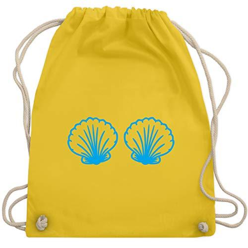 Karneval & Fasching - Meerjungfrau Kostüm blau - Unisize - Gelb - WM110 - Turnbeutel & Gym Bag (Erwachsene Meerjungfrau Kostüm Ideen)