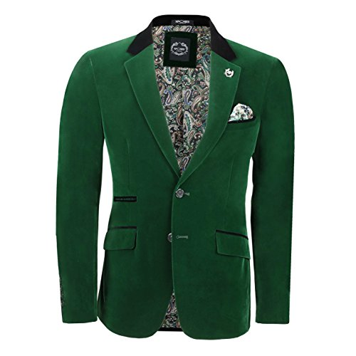 Xposed Herren Anzugjacke * One Size Gr. Brust 58, smaragdgrün (Suit Jacket Green Herren)