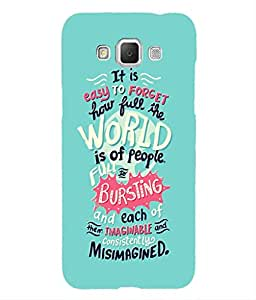 For Samsung Galaxy Grand 3 -Livingfill- Misimagined Quotes Printed Designer Slim Light Weight Cover Case For Samsung Galaxy Grand 3 (A Beautiful One of the Best Design with a Classic Theme & A Stylish, Trendy and Premium Appeal/Quality) (Red & Green & Black & Yellow & Other)