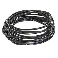 benerini Set of 12 Black Gummy Bracelets/Bands