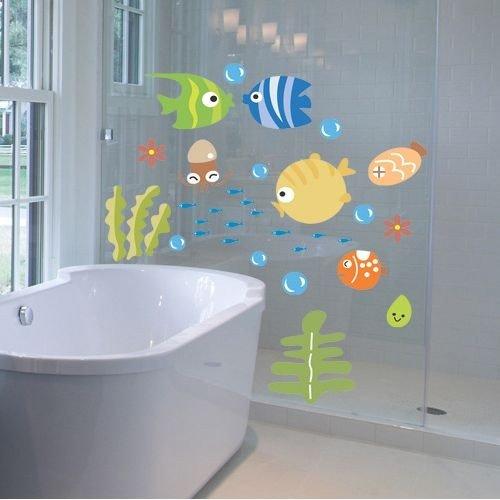 Pegatinas para baño con tematica de animales del mar