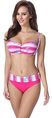Feba Figurformender Damen Bikini F13 (Muster-317, Cup 75C / Unterteil 38)