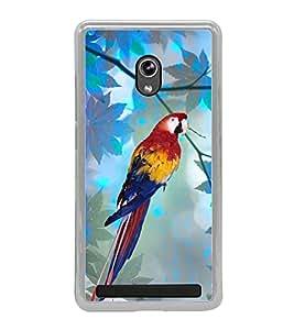 Parrot 2D Hard Polycarbonate Designer Back Case Cover for Asus Zenfone 5 A501CG :: Asus Zenfone 5 Intel Atom Z2520 :: Asus Zenfone 5 Intel Atom Z2560