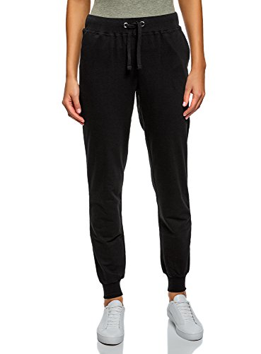 Oodji ultra donna pantaloni in maglia (pacco di 3), nero, it 42 / eu 38 / s
