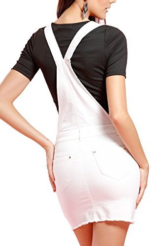 INFINIE PASSION - zip doré - Salopette jupe blanche Blanc
