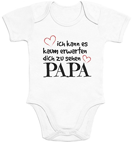 Shirtgeil Kaum Erwarten Dich Zu Sehen Papa Baby Body Kurzarm-Body