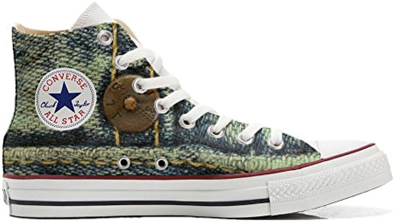 Shoes Custom Converse All Star  personalisierte Schuhe (Handwerk Produkt) Jeans
