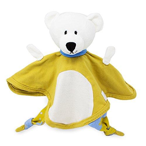 Emma & Noah doudou para bebé oso blanco, para niñas y niños, extra suave, ideal como peluche para bebé, dou dou, peluche pequeño, dudu, manta de peluche (Oso blanco)