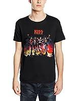 Plastic Head Men's Kiss Destroyer Banded Collar Short Sleeve T-Shirt